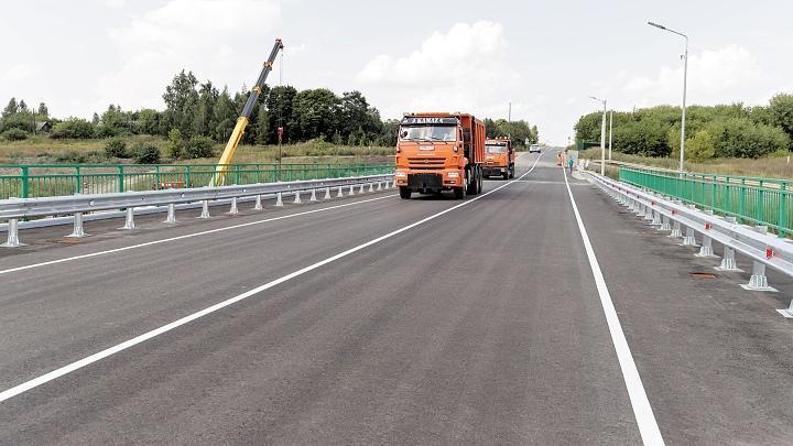 Открытие моста через Дон возле деревни Татинки Кимовского района