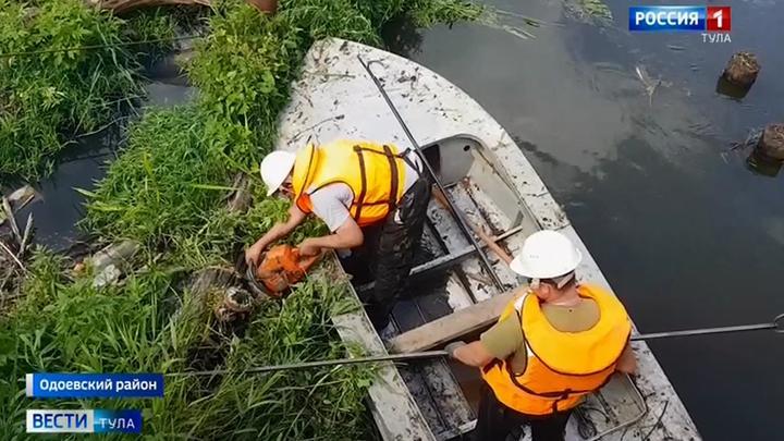 На берега Упы вышли спасатели