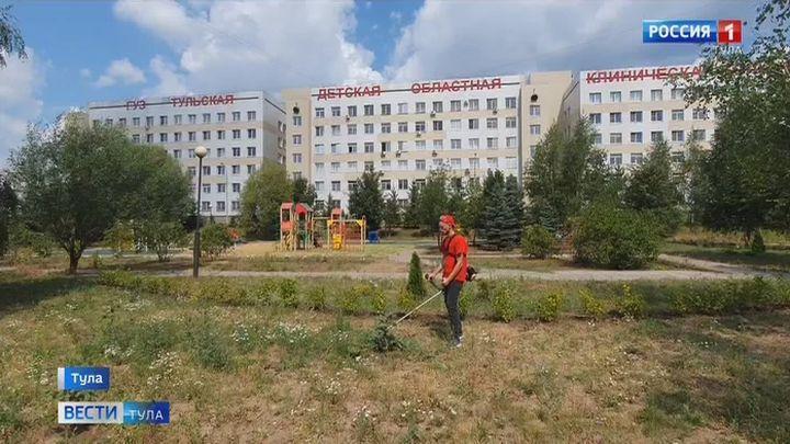 Тульские активисты ОНФ привели в порядок территорию детской больницы