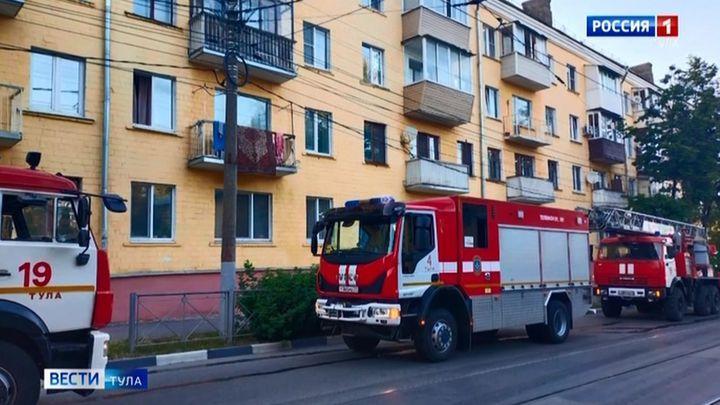 На пожаре в Туле спасатели эвакуировали жителей