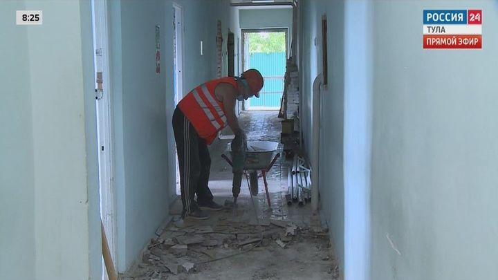 Ремонт поликлиники в Одоеве завершится до конца лета