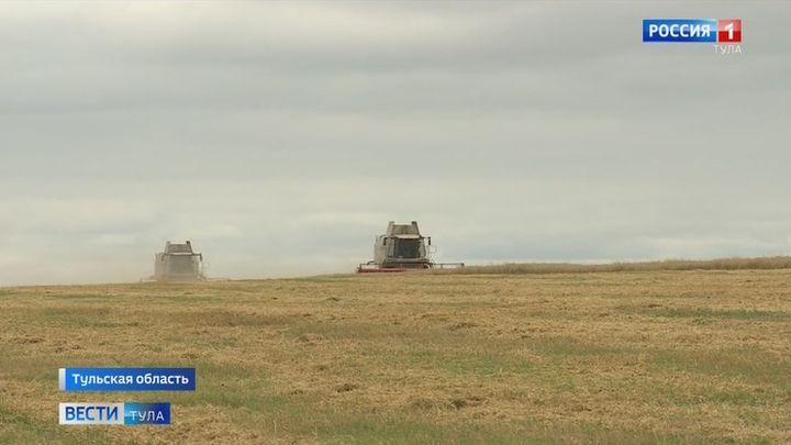 В некоторых районах Тульской области приступили к уборке зерновых