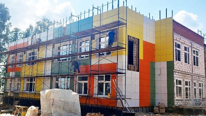 Строительство детского сада в Крапивне
