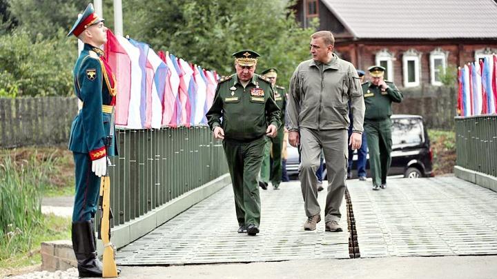 Открытие моста через реку Венёвку