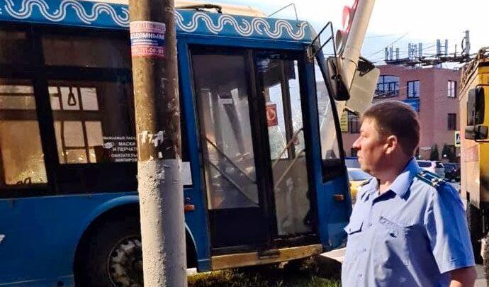 ДТП с троллейбусом в Туле на улице Первомайской