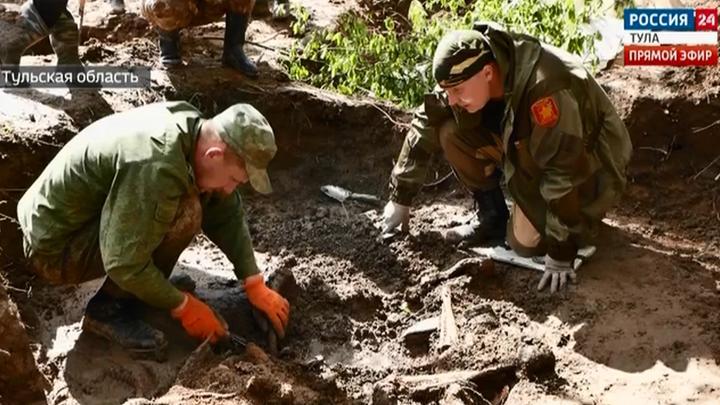Тульские поисковики ведут работы в Арсеньевском и Белевском районах