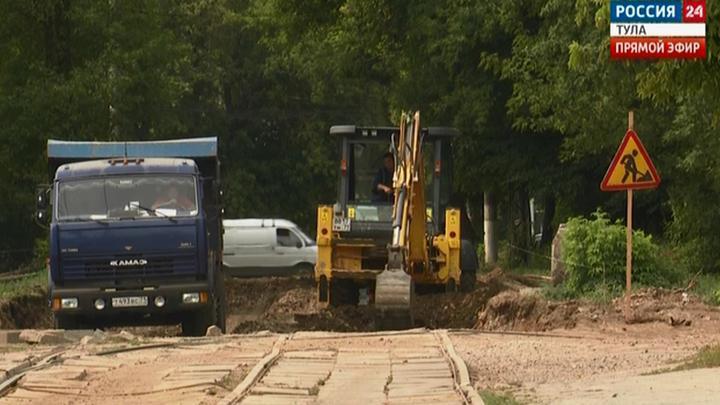 На Перекопской в Туле продолжатся ремонт трамвайных путей