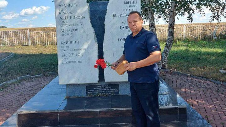 В Кимовском районе вспомнили жертв авиакатастрофы над Бучалками