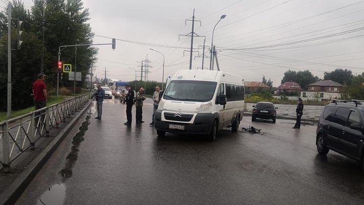 В аварии в Туле пострадала пассажир маршрутки