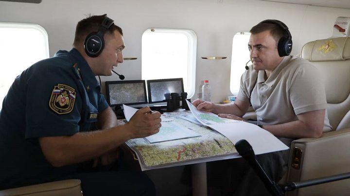 Губернатор с вертолёта оценил пожароопасную обстановку в Тульской области