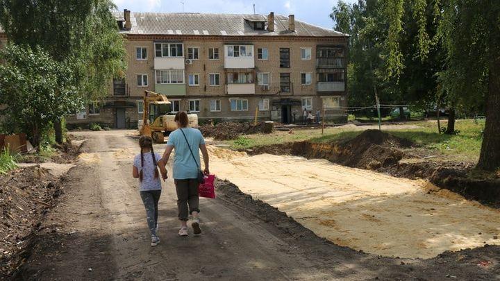 В Новомосковске благоустройство дворов отстало от графика