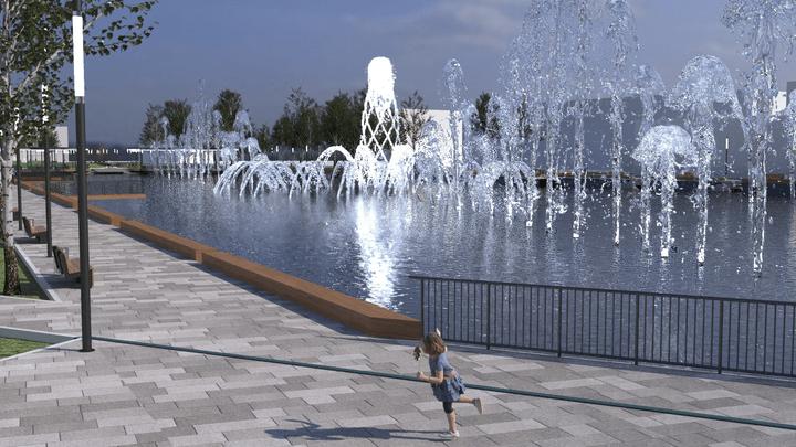 В Узловой появится каскад фонтанов в виде герба города