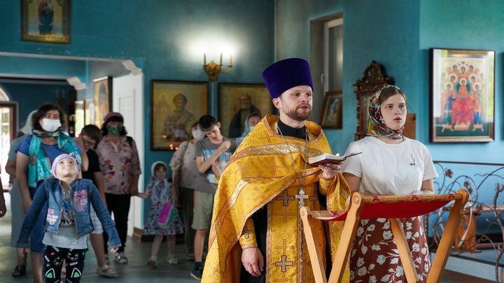 В Новомосковске состоялся молебен для семей с детьми-инвалидами