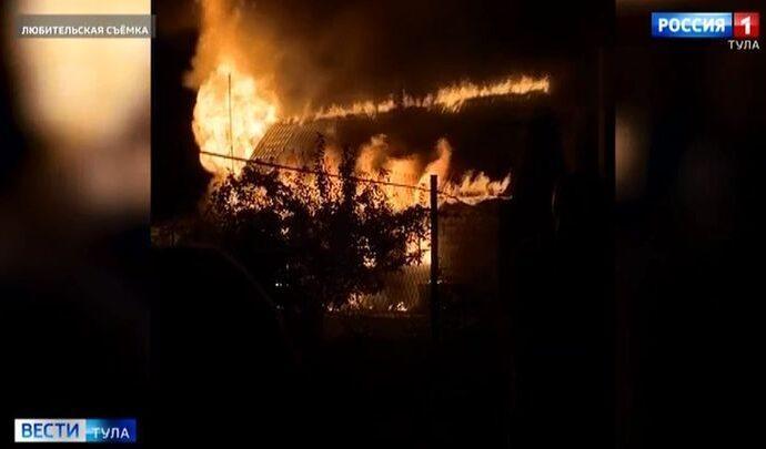 Женщина погибла в огне на даче в Ясногорском районе