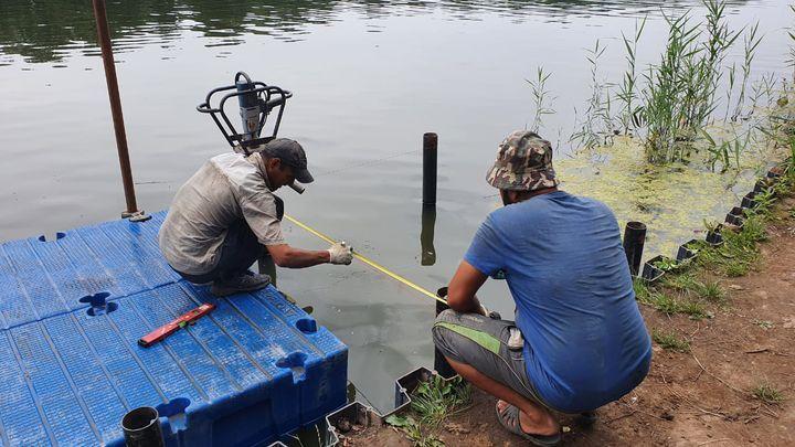 Благоустройство пруда в Первомайском близится к завершению
