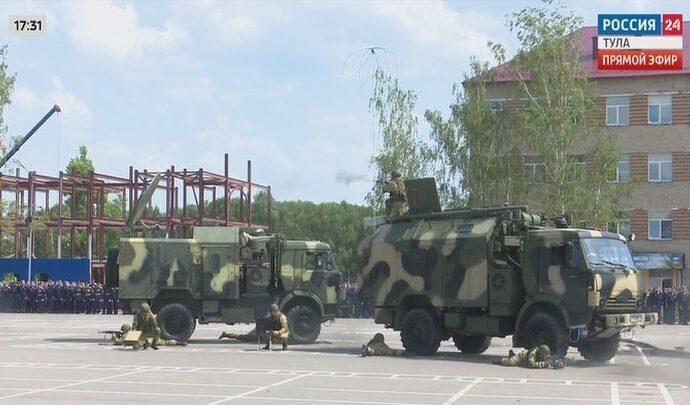 Тульские десантники отметили свой праздник демонстрацией боевых возможностей