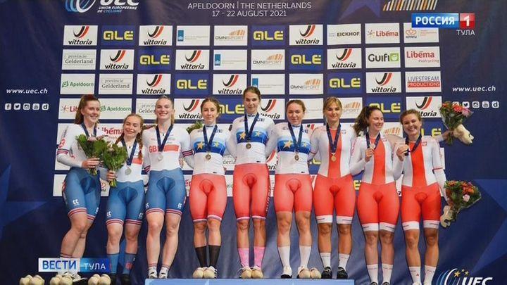 Тульские спортсмены завоевали две медали молодёжного первенства Европы по велогонкам на треке