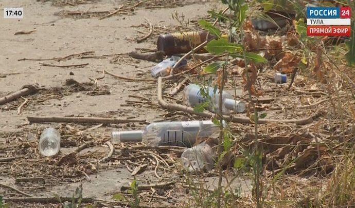 В Туле чистят русло реки Воронки