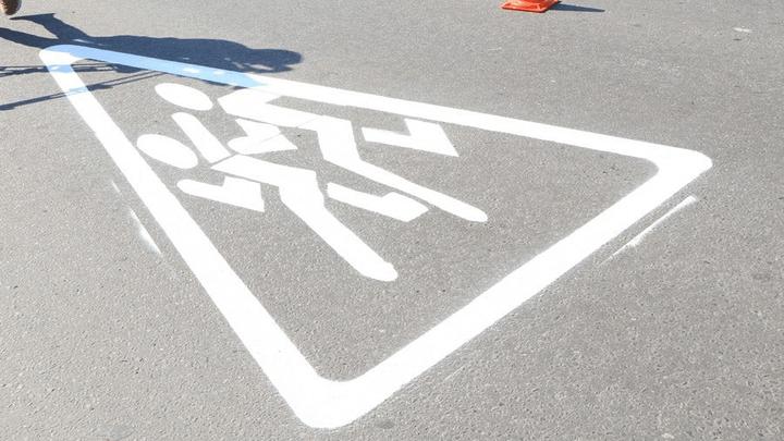 Вблизи образовательных учреждений Новомосковска обновляют дорожные знаки и разметку
