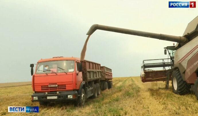 Аграрии заполняют тульские закрома