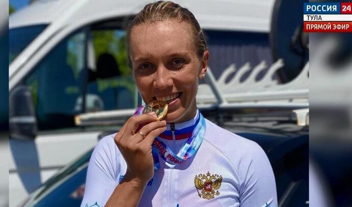 Тульская велогонщица участвует в чемпионате Европы