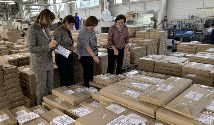 В Туле прошла приемка избирательных бюллетеней для голосования на выборах депутатов ГосДумы РФ