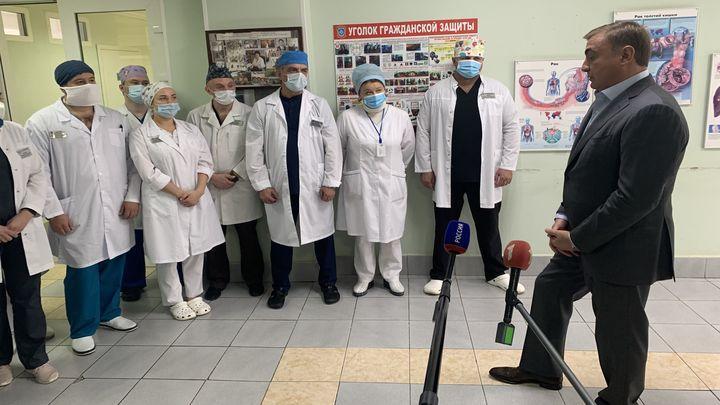 Алексей Дюмин встретился с алексинскими медиками