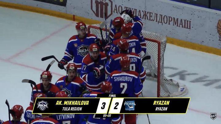 Хоккеисты АКМ одержали волевую победу над «Рязанью»