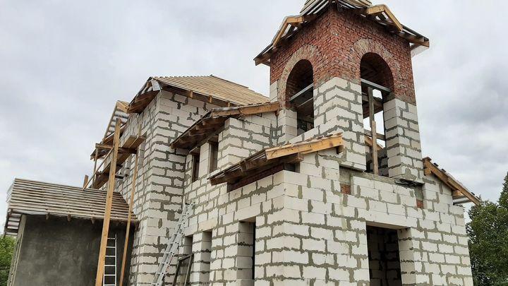 В Кимовском районе строят храм в честь святителя Николая Чудотворца