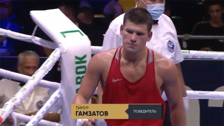 Тимур Гамзатов вышел в полуфинал чемпионата России по боксу
