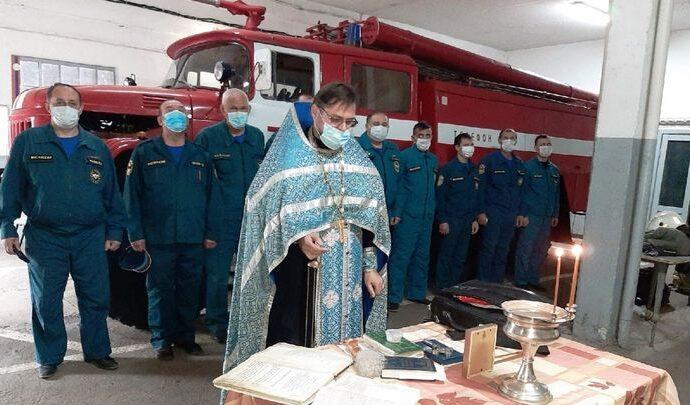 В Тульской области прошли молебны для спасателей
