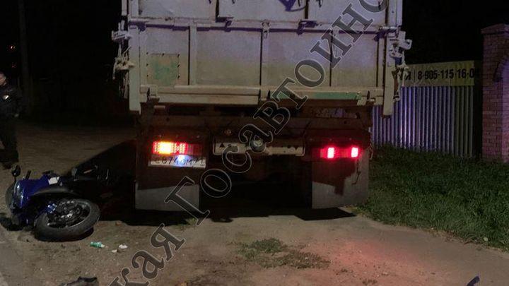 В Киреевском районе мотоциклист погиб под колесами КАМАЗа