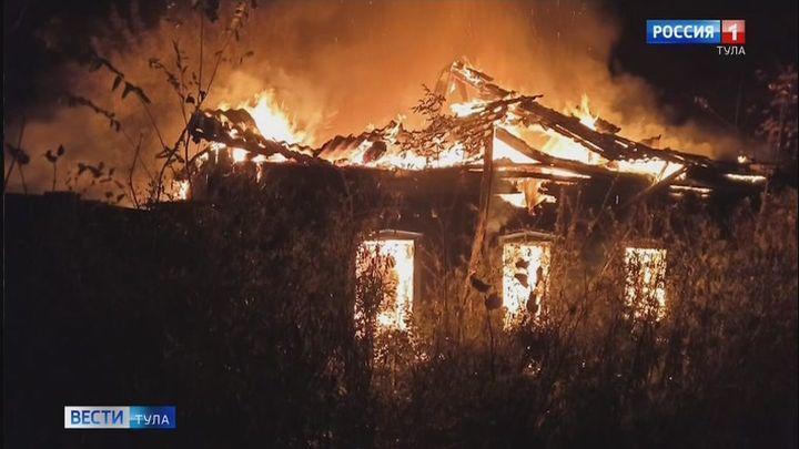 В Белеве при пожаре погиб человек
