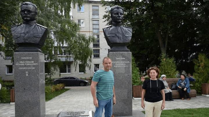 «Сквер разведчиков» в Узловой посетила внучка легендарной советской разведчицы Зои Воскресенской-Рыбкиной