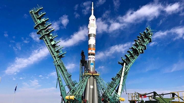 В прямом эфире Первого канала был показан старт пилотируемого корабля «Союз МС19»