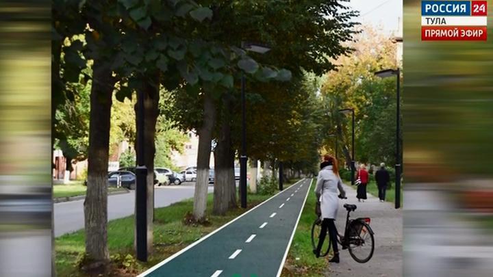 В Новомосковске велопуть соединит два городских парка