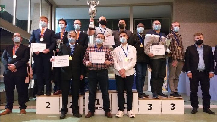Александр Гетманский - трёхкратный победитель командного чемпионата Европы по шашкам-100
