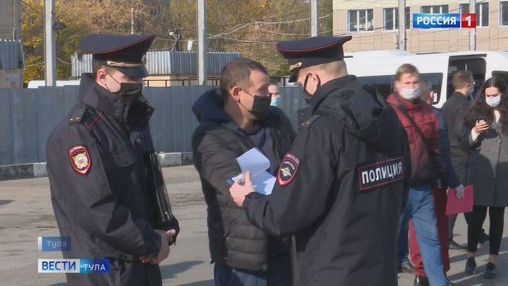 В Туле продолжается контроль над соблюдением масочного режима в общественных местах