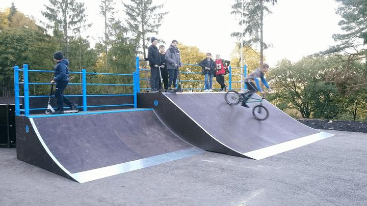В Плавске появился скейт-парк и памп-трек