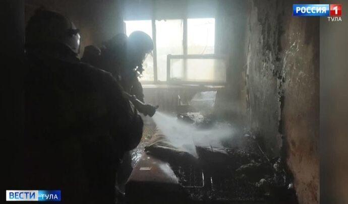 Житель Ефремова пострадал на пожаре