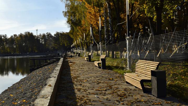 Благоустройство территории Свиридовского пруда в Узловой подходит к завершению